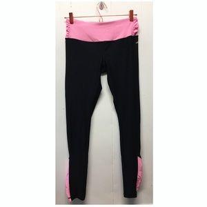 Avia | Hi Rise Black + Hot Pink Detail Leggings